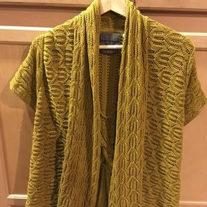 Guinevere cable knit cardigan Anthropologie